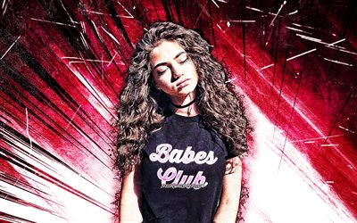 4k, Dytto, grunge art, american dancer, Dit-Oh, Courtney Nicole Kelley, purple abstract rays, american celebrity, Dytto 4K
