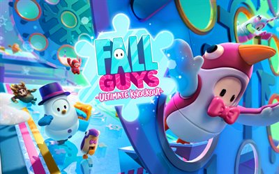 Fall Guys Ultimate Knockout, 4k, jeux 2020, jeux en ligne, Fall Guys