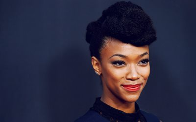 Sonequa Martin-Green, En 2017, à Hollywood, la beauté, l'actrice américaine, brunette