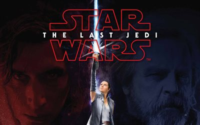 Star Wars Episode VIII, The Last Jedi, 2017, Daisy Ridley, poster, new movies, Star Wars