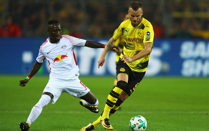 Download Wallpapers Andrey Yarmolenko, Naby Keita, 4k, BVB