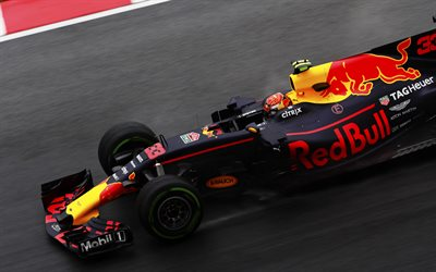 Max Verstappen, Red Bull RB13, 4k, Formula 1, Red Bull Racing, 33 number of Formula 1, Malaysia Grand Prix, Red Bull
