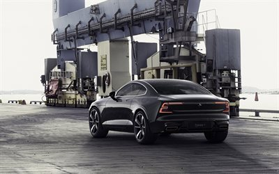 2020 Polestar 1, 2018, new luxury cars, sports coupe, black Polestar 1, Volvo S90 Coupe, Swedish cars, Volvo