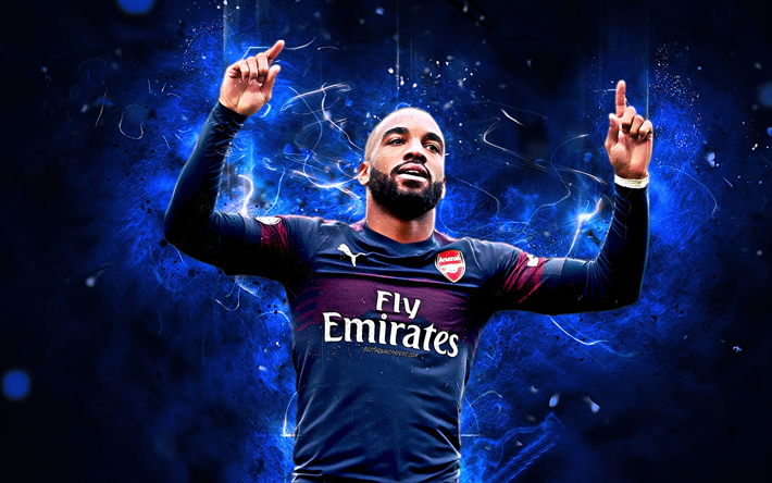 Download Wallpapers Alexandre Lacazette, Goal, French