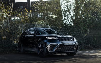 MANHART Velar SV 600, 2020, Range Rover Velar, front view, luxury SUV, tuning Velar, new black Velar, British cars, Manhart, Land Rover
