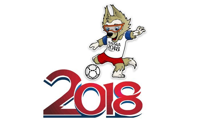 Download wallpapers Soccer, FIFA World Cup, logo, Russia 2018, wolf-footballer, symbol World Cup 2018 for desktop free. Pictures for desktop free