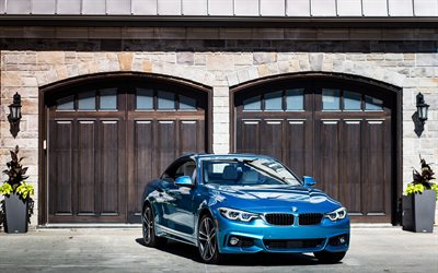 BMW 440i Cabriolet, 4k, 2018 cars, BMW M4, F82, german cars, BMW