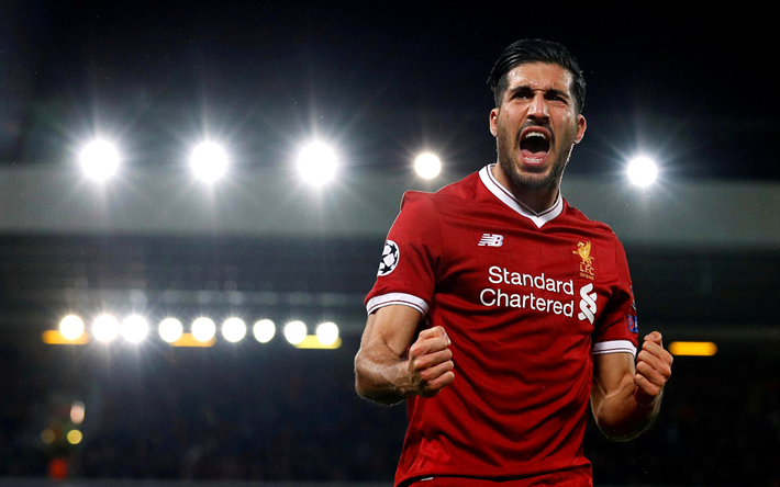 Download Wallpapers 4k, Emre Can, Joy, Liverpool
