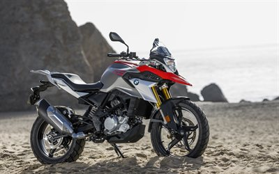 BMW G 310 GS, 4k, offroad, 2018 bikes, new G 310 GS, german motorcycles, BMW