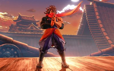 Guy Zeku, 4k, art, fighting game, Street Fighter V