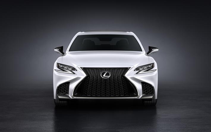 Lexus Ls Best Luxury Cars: Download Wallpapers Lexus LS 500, 2018, White LS, Luxury