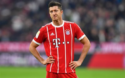 Robert Lewandowski, forward, Bayern Munich, Bundesliga, soccer, footballers, Lewandowski