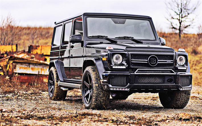 download wallpapers mercedes benz g63 amg, brabus, 2018, black suvmercedes benz g63 amg, brabus, 2018, black suv, front view,