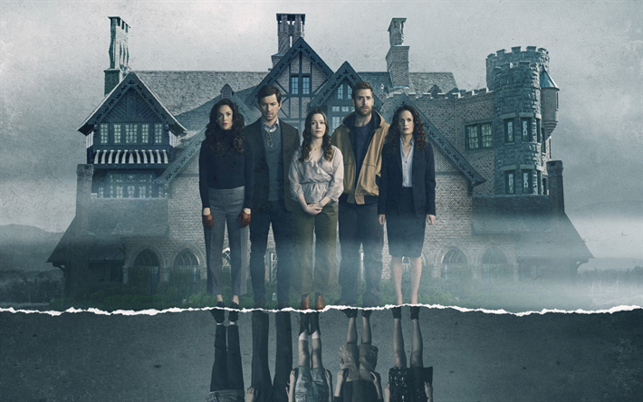 Download Wallpapers The Haunting Of Hill House 2018 Tv Series Promo Poster All Actors Characters Michiel Huisman Carla Gugino Henry Thomas For Desktop Free Pictures For Desktop Free