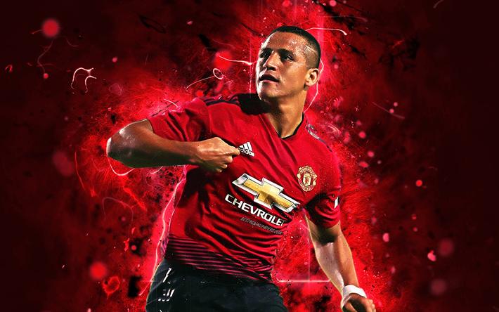 Download Wallpapers Alexis Sanchez Striker Manchester