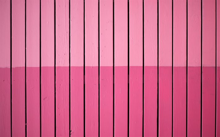 pink painted boards texture, pink planks background, planks texture, pink wood background, vertical wood planks