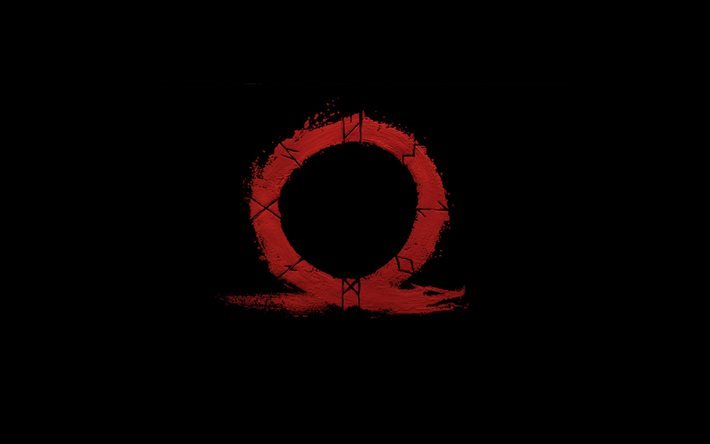 Download wallpapers God Of War 4, New Omega, logo, black ...