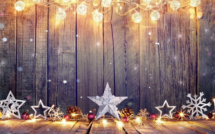 Sfondi Natalizi Originali.Scarica Sfondi Natale 4k Il Nuovo Anno Le Stelle