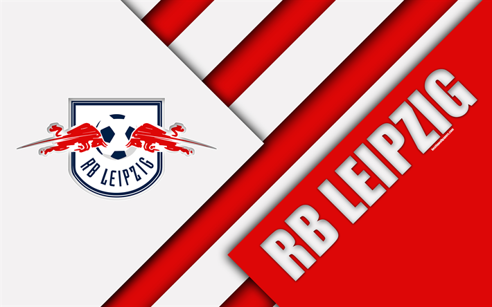 Download Wallpapers Rb Leipzig Fc 4k Material Design Emblem German Football Club Logo Bundesliga White Red Abstraction Leipzig Germany For Desktop Free Pictures For Desktop Free