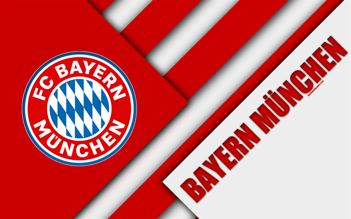 Download Wallpapers FC Bayern Munich, 4k, Material Design