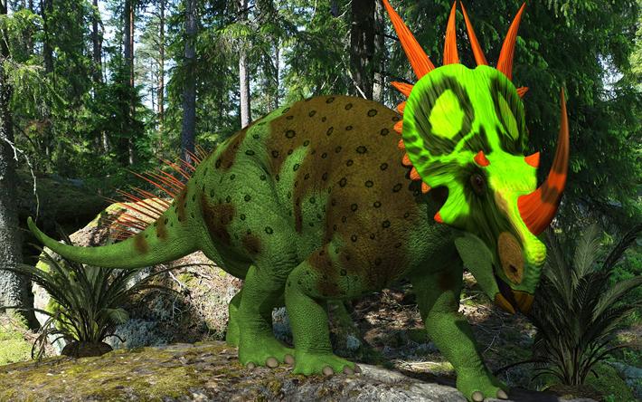 Download Wallpapers 3d Dinosaur Forest Predator Art