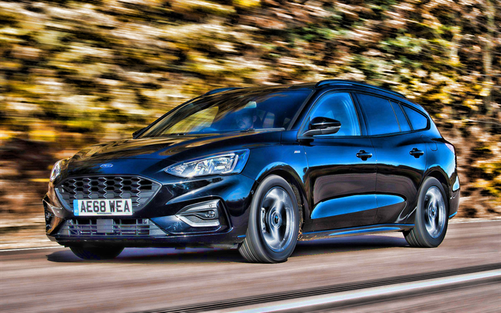Download Wallpapers Ford Focus St Line Estate Hdr 2019