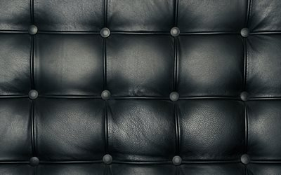 leather texture with buttons, black leather, sofa, furniture, fabric texture