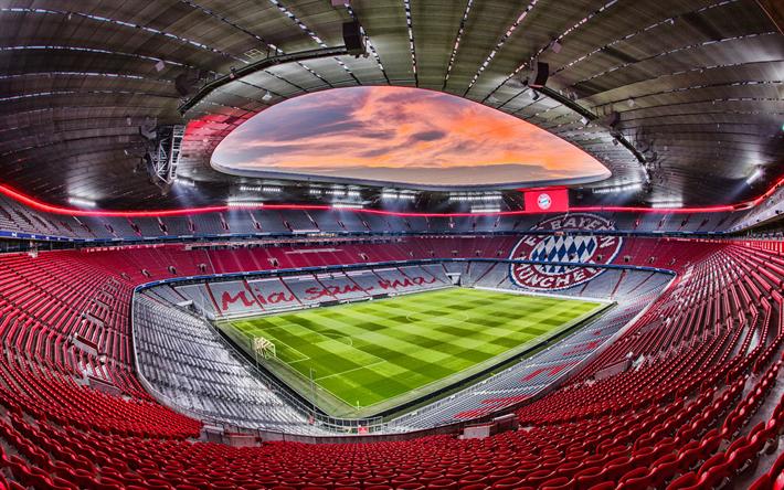 Scarica sfondi Allianz Arena, HDR, il Bayern Monaco ...