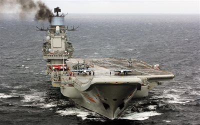 aircraft carrier, Admiral Kuznetsov, Russian Navy, Su-33, Sea