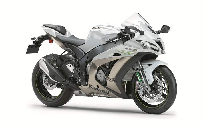Kawasaki Ninja ZX 10R 2018 4k New Sportbike White