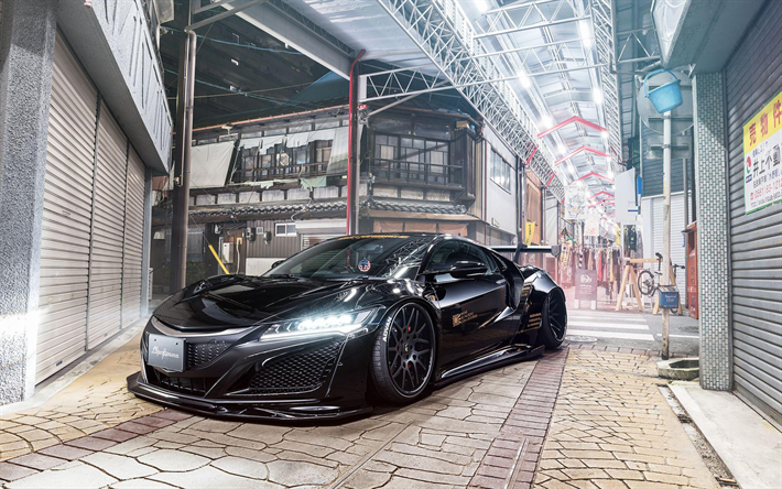 Download wallpapers Liberty Walk, tuning, Acura NSX