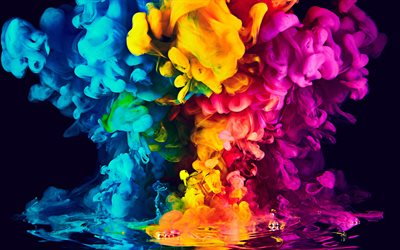 bright colorful smoke, 3d smoke, rainbow, colored smoke, art, creative