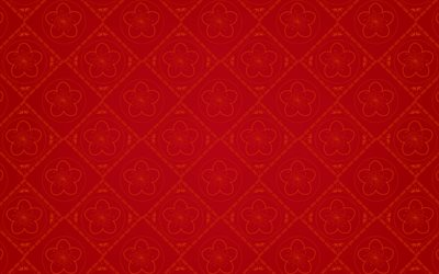 red chinese background, 4k, chinese patterns, chinese ornaments, red background, chinese textures