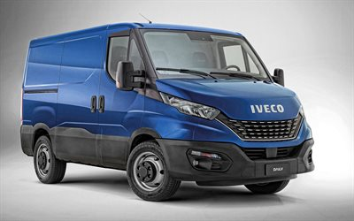 Iveco Daily Van, 2020, exterior, blue van, new blue Daily Van, commercial vehicles, Iveco