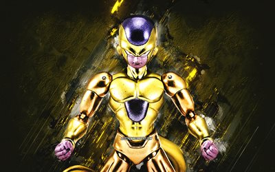 Golden Frieza, Dragon Ball, fond de pierre verte, Frieza, Golden Frieza Dragon Ball, art créatif, personnages de Dragon Ball, personnage Golden Frieza