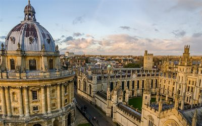 Oxford University, Educational Institutions the World, British university, old houses, architecture, Oxford, England