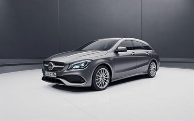 مرسيدس-بنز CLA Shooting Brake, 4k, 2018 السيارات, ليلة Edition, ضبط, CLA-class, مرسيدس