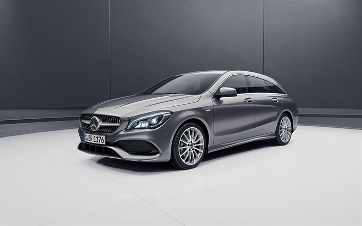 download wallpapers mercedes benz cla shooting brake 4k. Black Bedroom Furniture Sets. Home Design Ideas