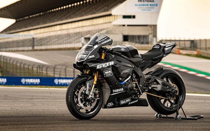 ダウンロード画像 ヤマハyzf R1 2018 Gytr性能 4k 黒スポーツバイク