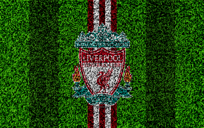 Download Wallpapers Liverpool Fc 4k Football Lawn Emblem Merseyside Liverpool Logo English Football Club Green Grass Texture Premier League Liverpool England United Kingdom Football For Desktop Free Pictures For Desktop Free