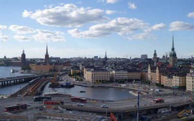 Stockholm, Old Town, city panorama, Sweden, cityscape, Swedish cities