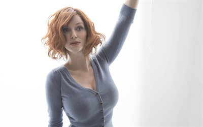 Christina Hendricks, 4k, american actess, Hollywood, beauty, photoshoot