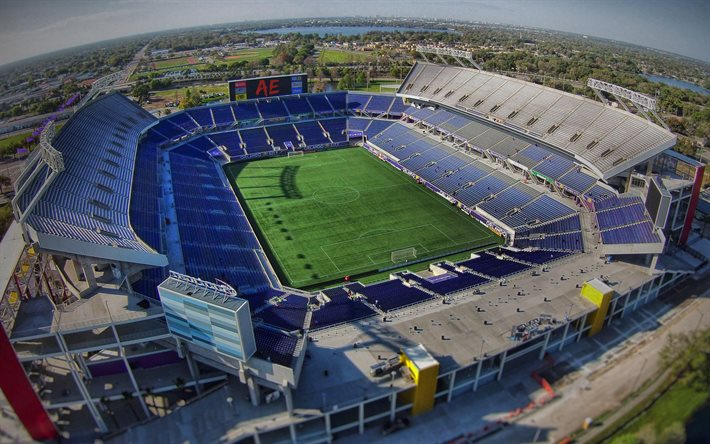 Télécharger fonds d'écran Camping World Stadium, Orlando, en Floride, Mandarine Bol, Florida Citrus Bowl, Orlando City SC Stadium, stade de football, MLS, états-unis pour le bureau libre. Photos de bureau libre