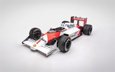McLaren MP43, Formula One, racing car, F1, Formula 1 retro racing cars, 1987 Formula One World Championship, TAG-Porsche, McLaren