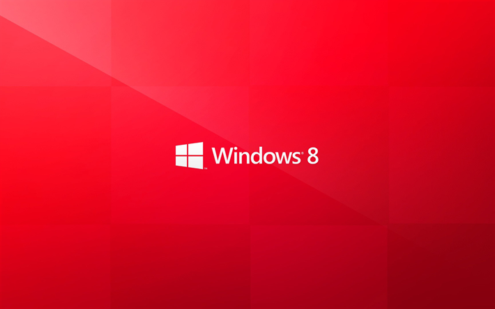 Windows 8, red background, logo, creative, Windows 8 logo