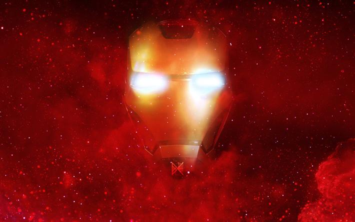 Download wallpapers Iron Man, fan art, superheroes, galaxy