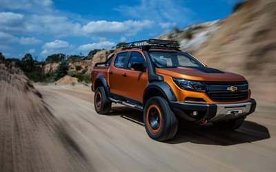 Chevrolet Colorado ZR2, Xtreme, 2017, 4k, SUV, front view, new bronze Colorado, tuning, American cars, Chevrolet