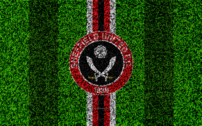 Download Wallpapers Sheffield United FC, 4k, Football Lawn