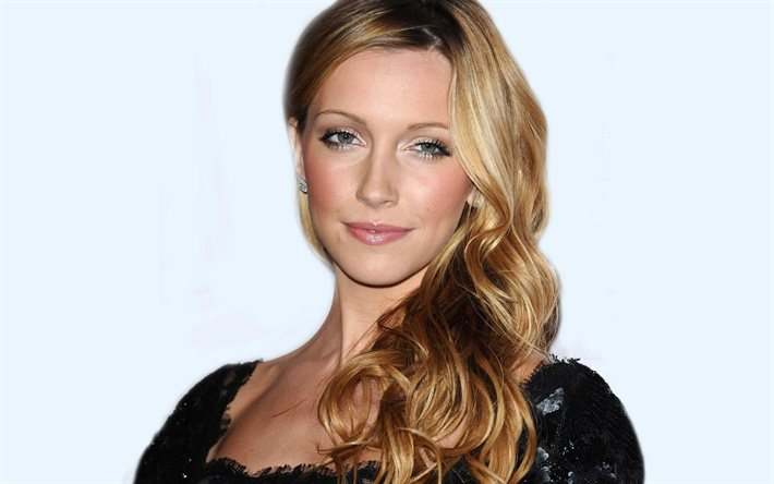 Katie Cassidy, actrice américaine, maquillage, robe noire, séance photo, actrices populaires, Hollywood