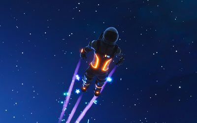 4k, Dark Voyager, skydive, Fortnite, characters, 2019 games, Fortnite Battle Royale, Dark Voyager Fortnite